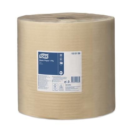 Bilde av Tørkepapir Basic Papir brun stor rull W1 Tork 1000M*